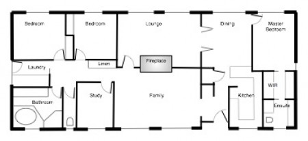 Starting House Design 3 on 1 bedroom floor plans